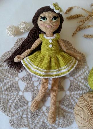 Кукла вязаная ручной работы ручной работы на заказ