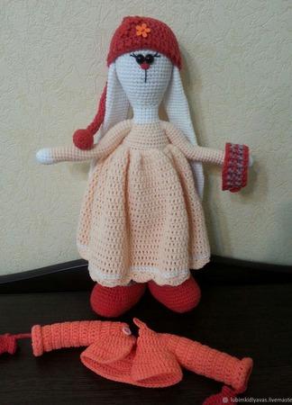 Зайка-Тильда вязаная ручной работы на заказ