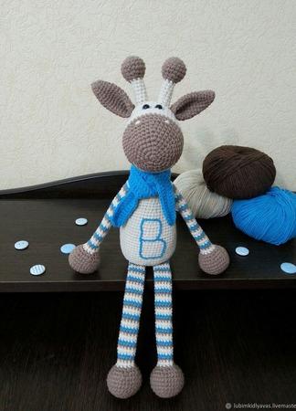 Жираф вязаный ручной работы ручной работы на заказ