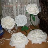 Светильник-роза ручной работы