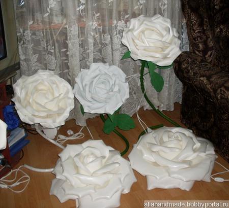 Светильник-роза ручной работы ручной работы на заказ