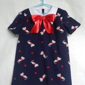 """Платье для девочки """"Кошка с бантом"""""""