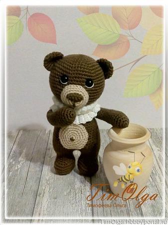 Медвежонок - игрушка вязаная ручной работы на заказ