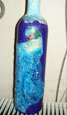 Подарочная бутылка под напитки ручной работы на заказ