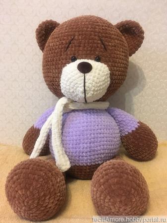 Большой плюшевый медведь ручной работы на заказ