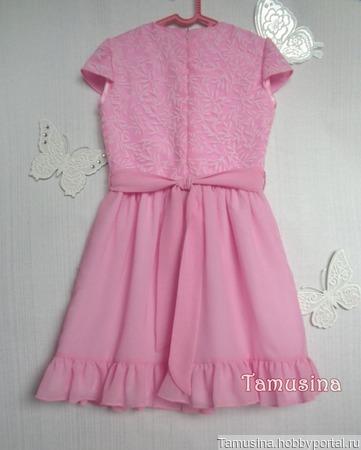 """Платье """"Розовые мечты"""" для девочки ручной работы на заказ"""