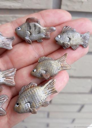 Рыбки из полимерной глины для ватных игрушек ручной работы на заказ