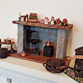 Камин - миниатюра для кукол и кукольного дома