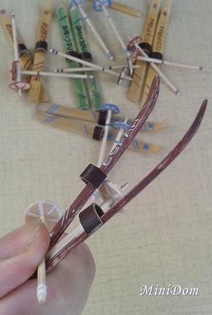 Лыжи коньки санки для миниатюры ручной работы на заказ