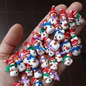 Снеговики, Дед Мороз и Лось - для кукольной миниатюры