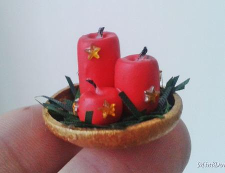 Аксессуары для кукол Свечи для кукольной миниатюры ручной работы на заказ