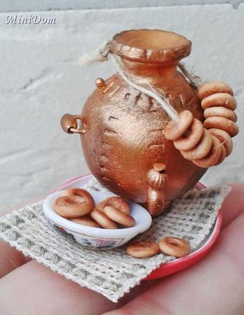 Аксессуары для кукол - Самовар для кукольной миниатюры ручной работы на заказ