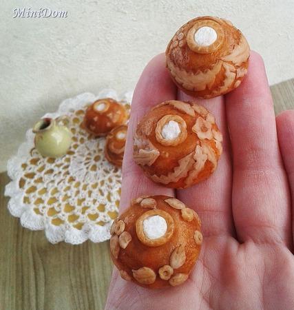Еда для кукол - Русские пироги для кукольной миниатюры ручной работы на заказ