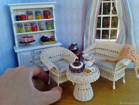 Кукольная миниатюра - Плетеная мебель для кукольного дома ручной работы на заказ