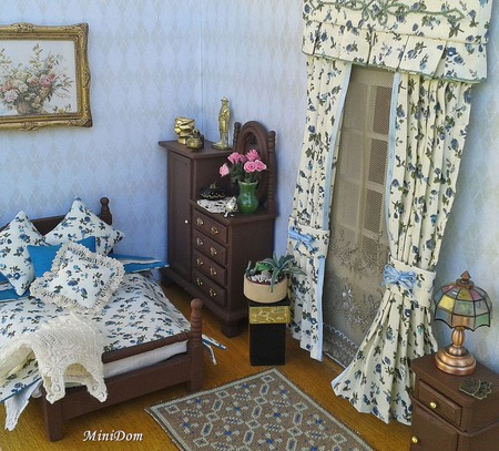 Постельное белье для кукольного дома - Кукольные аксессуары ручной работы на заказ