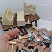 Ящик для инструментов в кукольный дом - Аксессуары для кукол