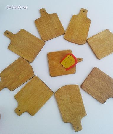 Разделочные доски для кукольного дома - Аксессуары для кукол ручной работы на заказ