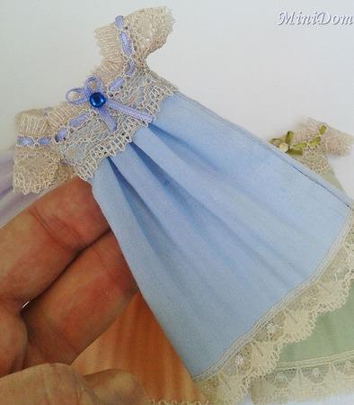 Ночная рубашка для кукольного домика - Аксессуары для кукол ручной работы на заказ