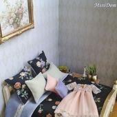 Шторы и постельное белье для кукольного домика - Аксессуары для кукол