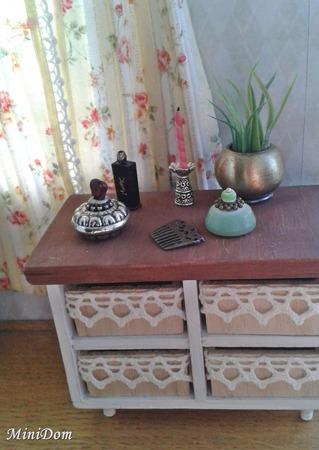 """Мебель для кукол - комод из серии """"Прованс"""" для кукольного домика ручной работы на заказ"""
