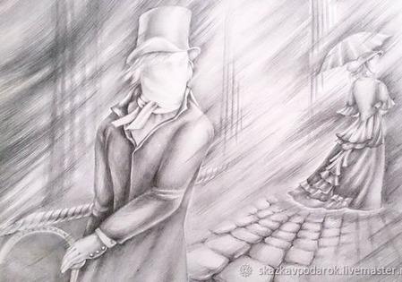 """Картина """"Туман с Невы"""" ручной работы на заказ"""