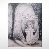 """Картина """"Сложив крылья..."""""""