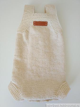 Боди для новорожденного вязаный теплый ручной работы на заказ