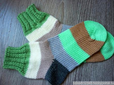 Носочки полосатые ручной работы на заказ
