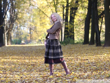 Шерстяная зимняя юбка миди ручной работы на заказ