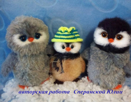 """Мастер-класс """"Семейка пингвинов"""" 3 в 1 ручной работы на заказ"""