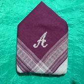 Мужской носовой платок с инициалом А