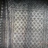 """Пуховый ажурный платок, шаль """"Зимний вечерок"""" волгоградский пух"""