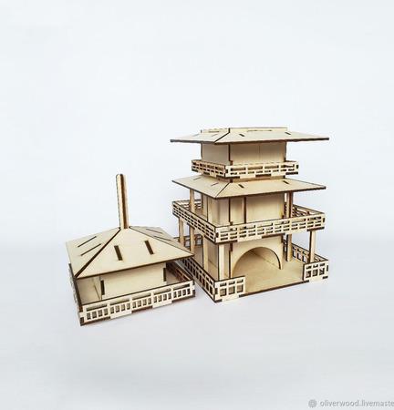"""Заготовка для декупажа - Чайный домик """"Пагода"""" ручной работы на заказ"""
