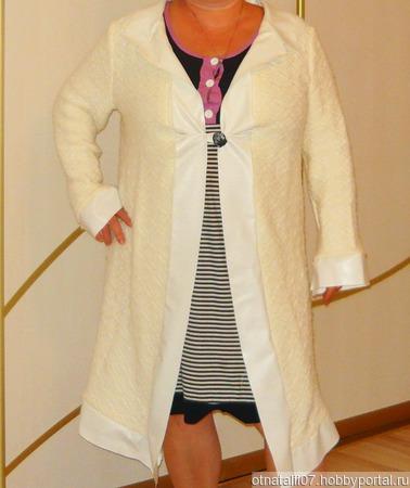 Пальто вязаное ручной работы на заказ