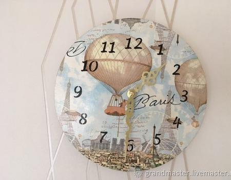 Часы Париж ручной работы на заказ
