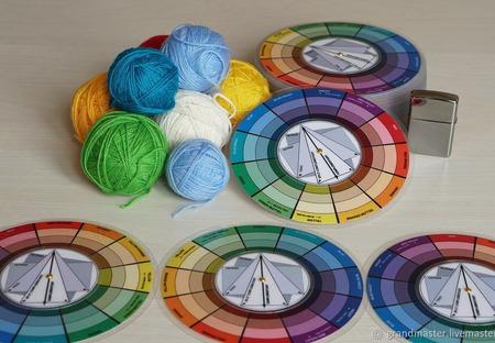 Цветовой Круг  15 см ручной работы на заказ