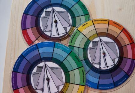 Цветовой Круг 10см, карманный ручной работы на заказ