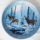 Тарелка с оленями