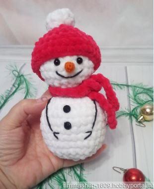 Вязаный снеговик ручной работы на заказ