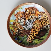 Тарелочка Леопарды