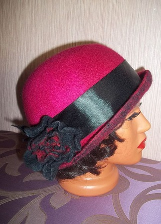 Шляпка валяная шляпа Flower for you ручной работы на заказ
