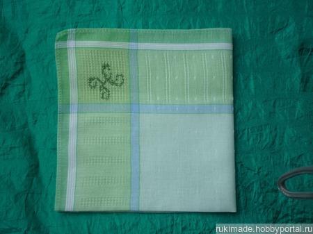 Женский носовой платок с инициалом Н ручной работы на заказ