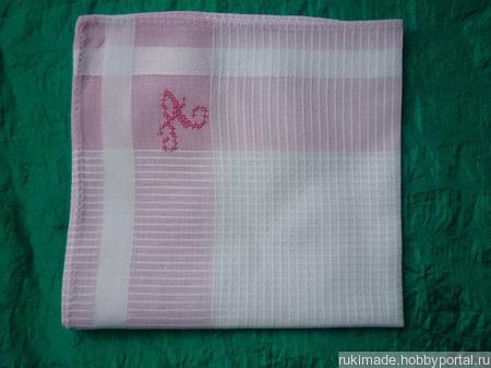 Женский носовой платочек с инициалом А ручной работы на заказ