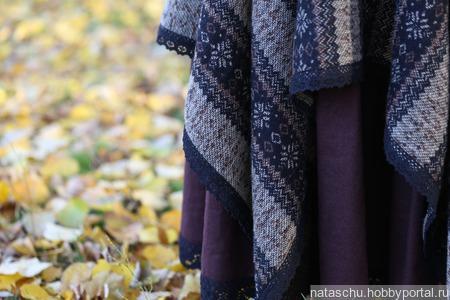 Юбка в стиле бохо теплая на зиму ручной работы на заказ