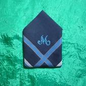 Мужской носовой платок с инициалом М