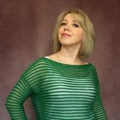 Джемпер Тельняшка зеленого цвета