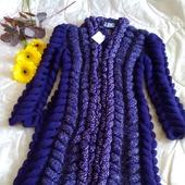 Вязаный кардиган Шиншилла от Knit by Heart ручной работы