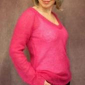 Пуловер Фуксия