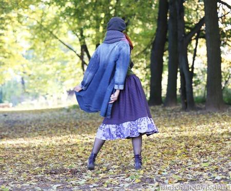 Шерстяная юбка миди зимняя ручной работы на заказ