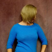 Джемпер из ангоры цвета бирюзы
